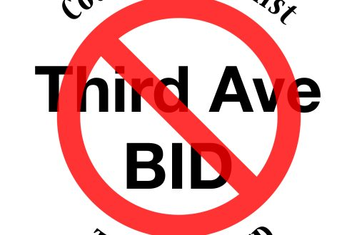 say NO to the 3rd ave BID